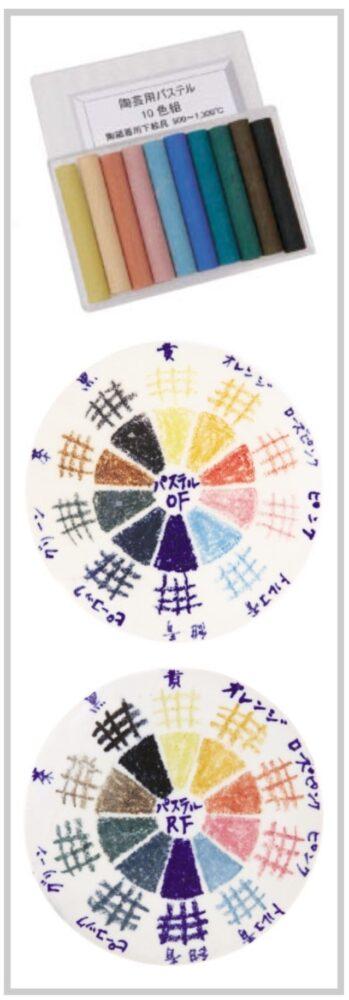 「陶芸用パステル」の色見本